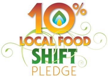 10% Local Food Shift Pledge Logo