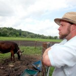 Organic dairy farmer Vernon Hershberger. PHOTO CREDIT: Kyle McDaniel - Wisconsin State Journal
